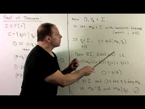 Overview of Minimal Polynomials