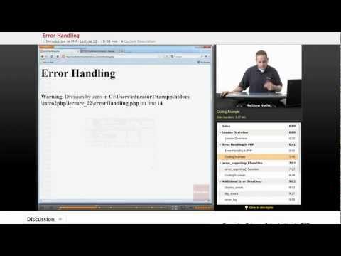 PHP: Error Handling