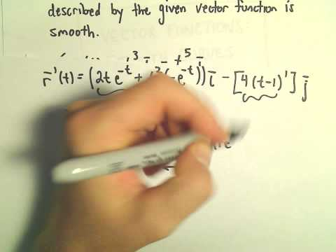 Smooth Vector Functions, Ex 2