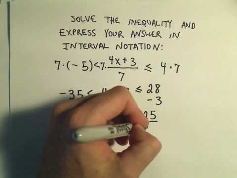 Solving Linear Compound Inequalities - Example 3