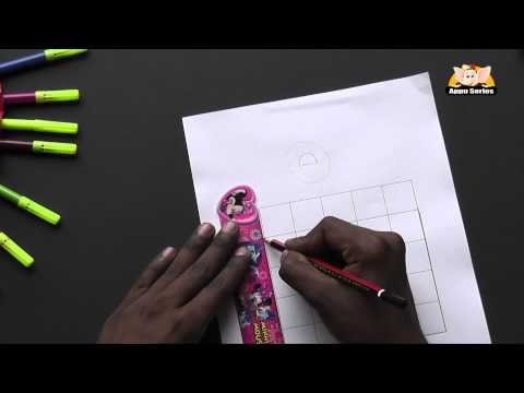 Write Block Style Alphabet 'D'  - Arts & Crafts