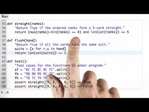 Straight And Flush Solution - CS212 Unit 1 - Udacity