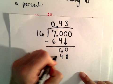 Writing a Number as a Percent ( 5 examples)