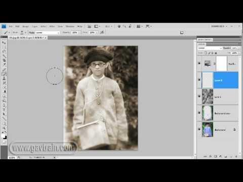 Vintage prints from modern photos - Photoshop Week 40