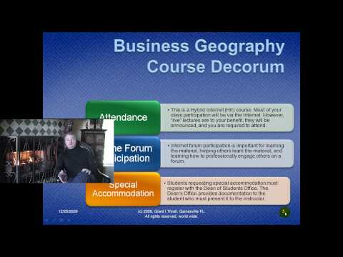 Regarding The Hybrid Internet Courses In Business Geography At University of Florida