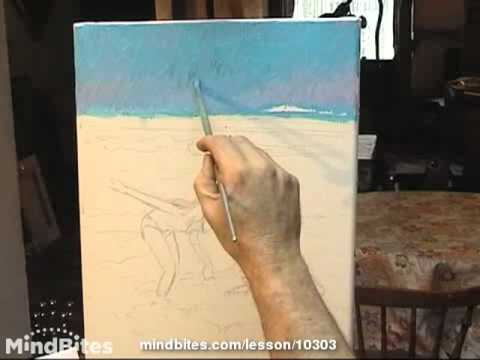Oils - Prt. 5 of 13 - Demo - beach scene