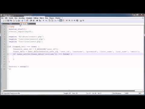 PHP Tutorials: Register & Login (Part 8): Disable/Ban User Accounts
