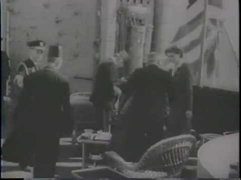President Roosevelt Meets Middle East Leaders (1945)