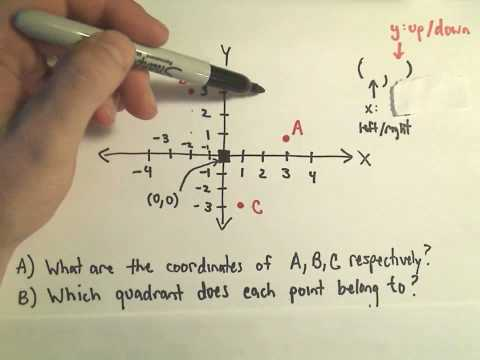 The Cartesian Coordinate System - A few basic questions