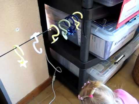 Toddler - Prewriting. hooks on string