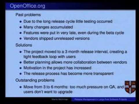 Open Source Speaker Series: Release Management in Large...