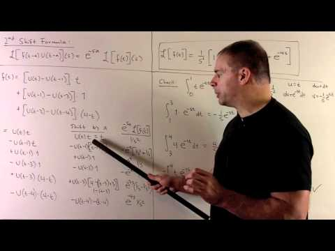 Second Shift Formula for a Piecewise-defined Function