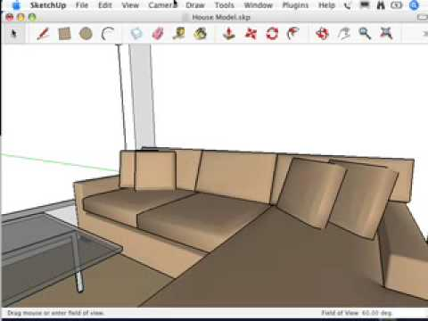 SketchUp: I can't get a good view of the inside of my model