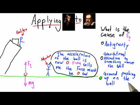 What Balances Gravity Solution  - Intro to Physics - What causes motion - Udacity