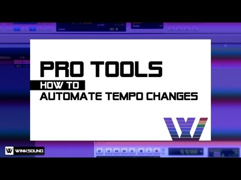 Pro Tools: How To Automate Tempo Changes   WinkSound