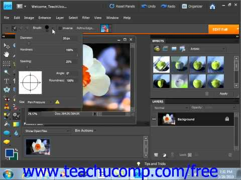 Photoshop Elements 9.0 Tutorial The Smart Brush Tools Adobe Training Lesson 6.10