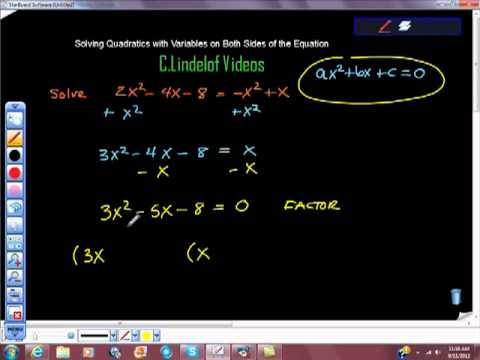 Solving Quadratics When There are Variables on Both Sides of the Equation