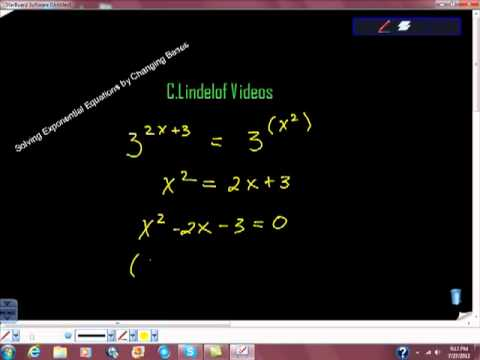 Solving Exponential Equations by Changing Bases Pt I