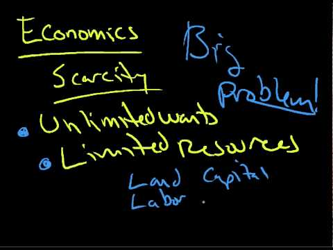 Production Possibilities Model 1 scarcity