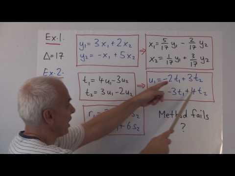 WildLinAlg5a: Change of coordinates and determinants