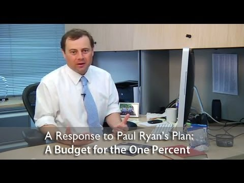 The Ryan Plan: A Budget for the One Percent