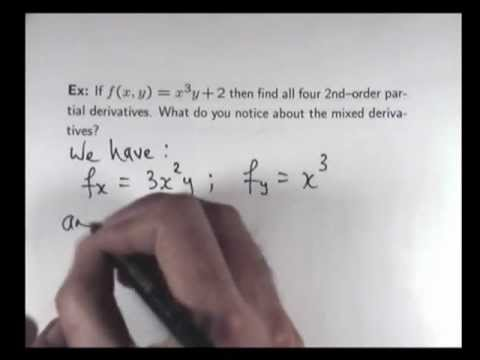 Partial derivatives: 2nd order examples