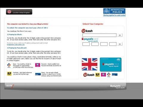 Remove Fake Police Alert Metropolitan Police Sacem by Britec