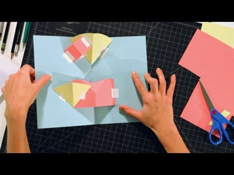 Pop-Up Cards and Crafts: Basic Techniques / V Folds on Layers