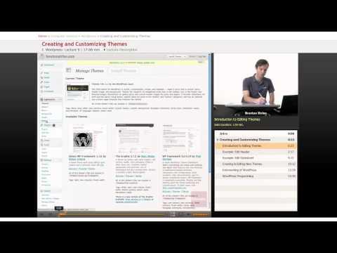 WordPress: Creating and Customizing Themes