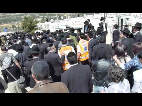 Part of the post-funeral procession at Jerusalem funeral