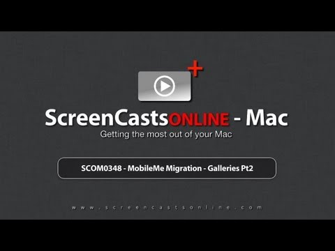 Trailer for SCOM0348 - MobileMe Gallery Migration - Part 2