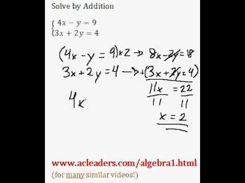 System of Equations - Solving by Addition (pt. 6)