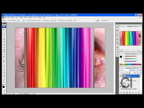 Photoshop Tutorial: How to make a multi colored eye