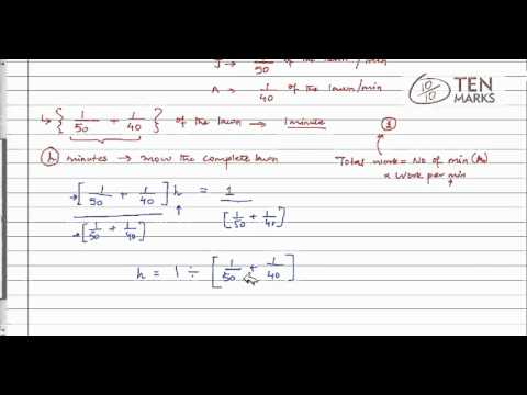 Rational Equations-Work Applications