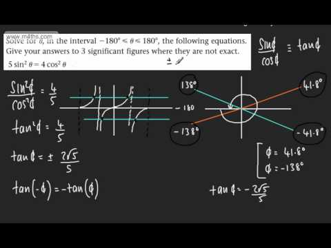 Part 5 - Core 2 Revision - Loads of Trig Equations - C2 Trigonometry