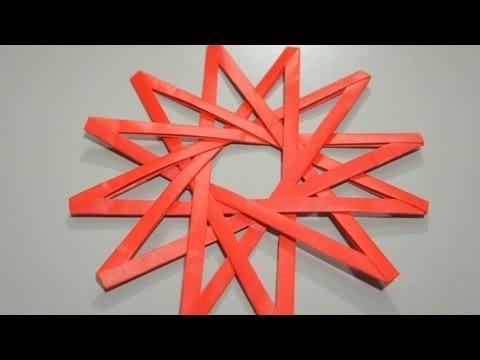 Origami Dodecagram (12 pointed star) (Jo Nakashima)