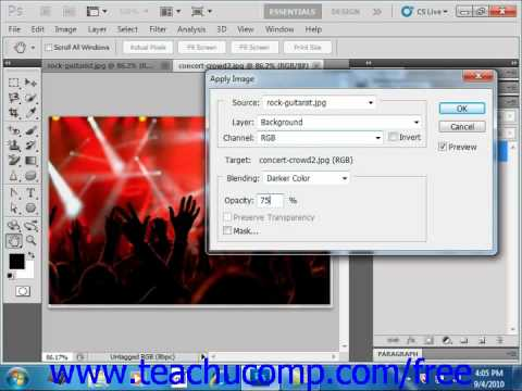 Photoshop CS5 Tutorial Blending Channels & Layers Adobe Training Lesson 13.4