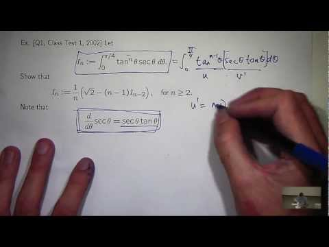 Reduction formula tan^n x sec x