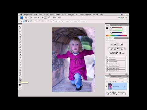 Photoshop: Color-correcting an outdoor portrait with curves | lynda.com