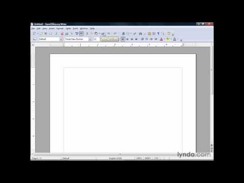 OpenOffice: Understanding the interface   lynda.com