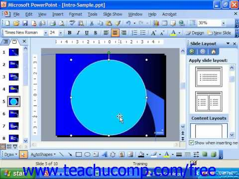 PowerPoint 2003 Tutorial Ordering Objects Microsoft Training Lesson 20.2