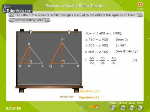 Theorem On Areas Of Similar Triangles