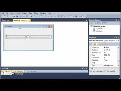 Visual Basic Tutorial - 50 - Global Variables