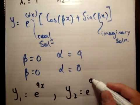 Solving a second order linear differential equation constant coefficients