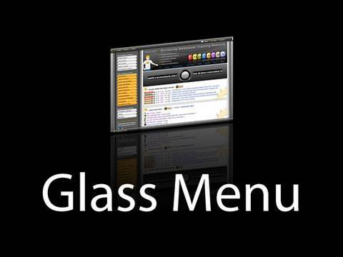 Reflective Glass Smooth Animated Portfolio Menu Showcase: Flash CS3 CS4