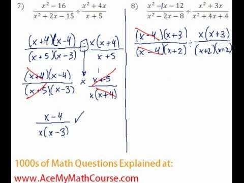 Rationals - Multiplying & Dividing Rationals Question #8