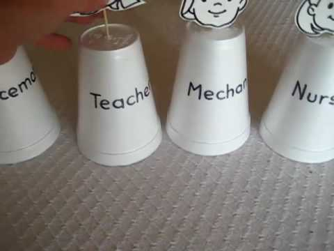 Preschool - Social Studies. Community helper cups
