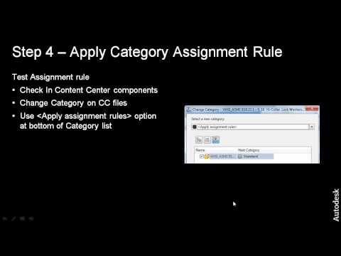 Step 4 Apply Category Assignment Rule to Content Center Files