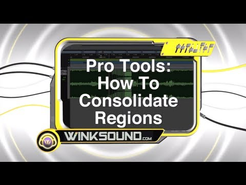 Pro Tools: How To Consolidate Regions | WinkSound