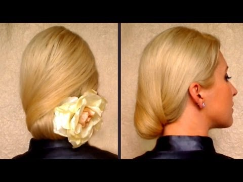 Prom hairstyles for long hair Elegnat work office job interview hairdo Bridal wedding updo
